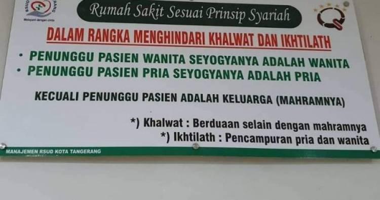 Warganet Kecam RSUD Kota Tangerang,  Spanduk Diskriminatif Dicopot