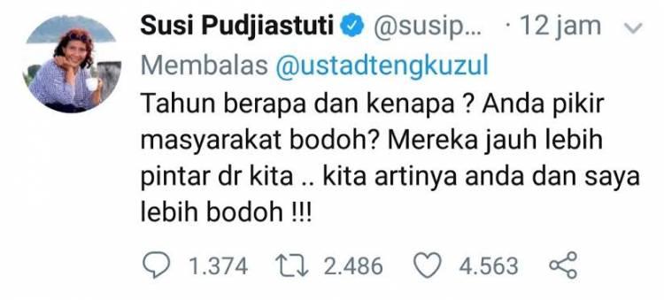 Menteri Susi Sindir BodohSaat Tengku Zulkarnain Sebut Impor Ikan Asin
