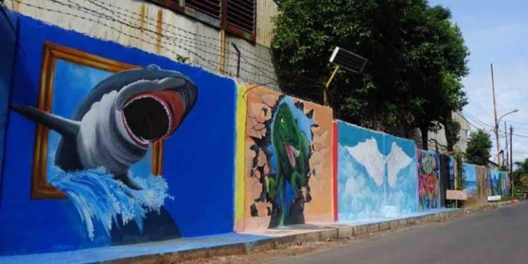 Warga Kampung Mural Gandasari Kota Tangerang Senang Kampungnya Jadi Indah