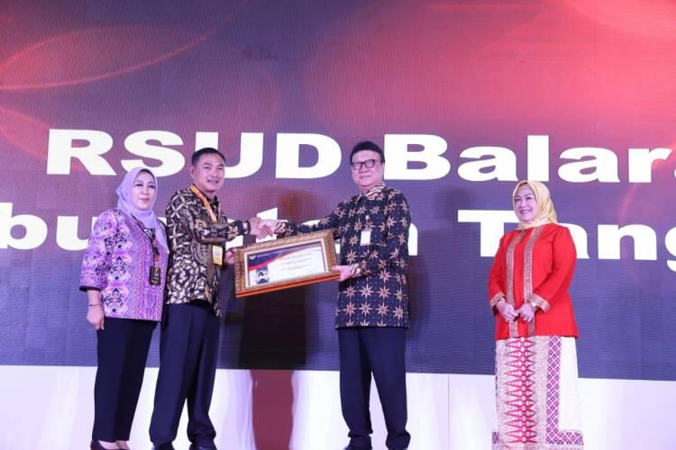 RSUD Balaraja Raih Penghargaan Pelayanan Publik Sangat Baik dari Menpan RB