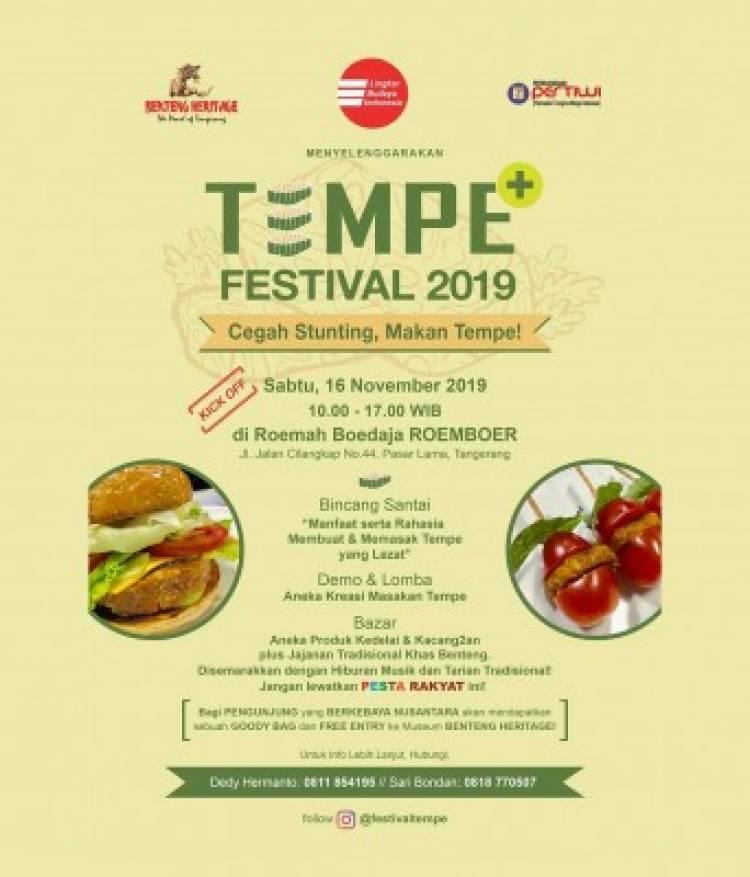 Lawan Stunting, Komunitas Benteng Gelar Festival Tempe 2019