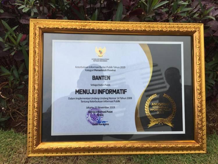 Pemrov Banten Raih Anugerah Keterbukaan Informasi Badan Publik