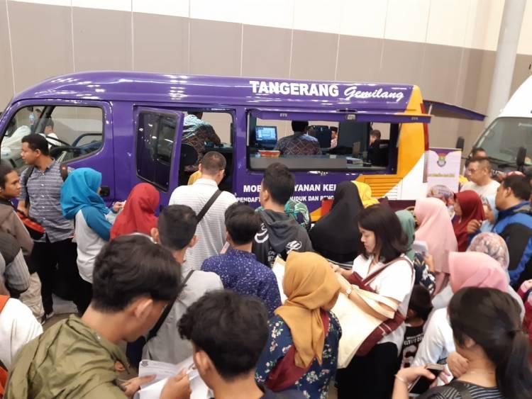 HUT Korpri, Dukcapil Tangkab Buka Layanan Bikin KTP Expo Sehari