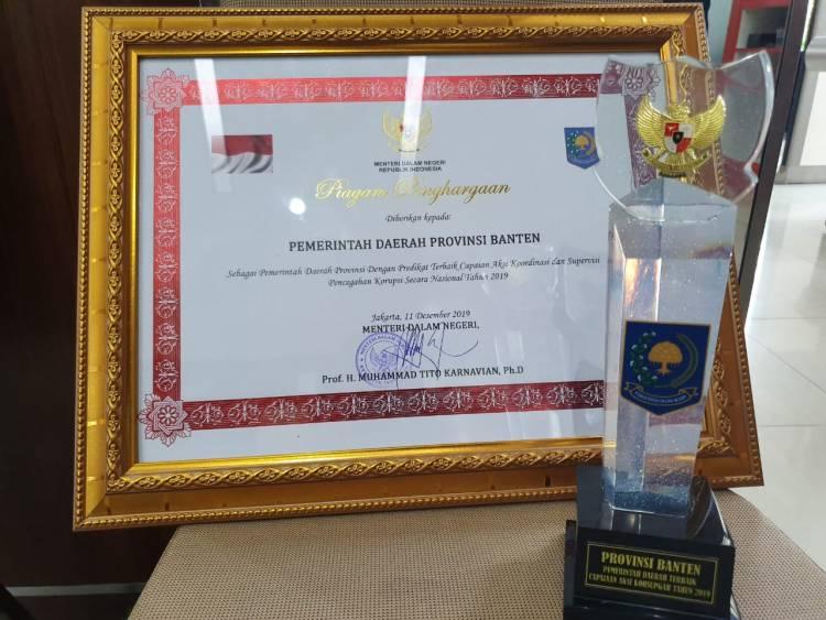 Sejak Dipimpin Atut, Rano Karno Hingga WH, Pemprov Banten Pertama Kali Raih Penghargaan Pencegahan Korupsi