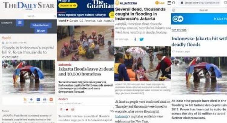 Banjir di Jakarta Jadi Trending Topik Media Luar Negeri