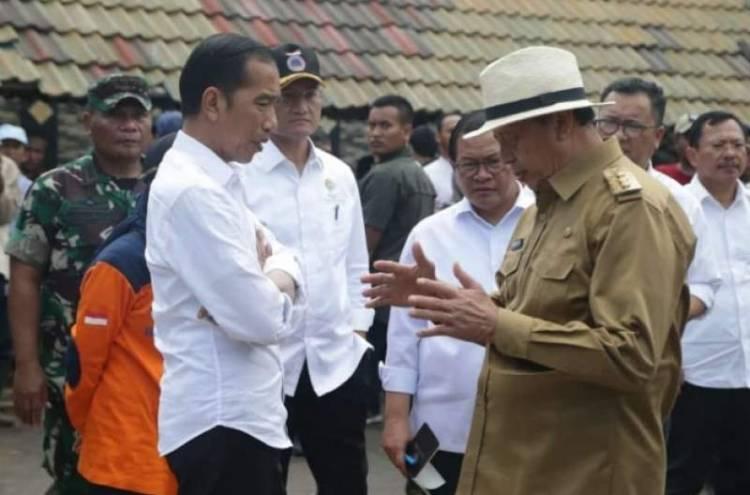 Jokowi Tinjau Korban Banjir Lebak, Gubernur WH Sebut Penanganan Sesuai Protap