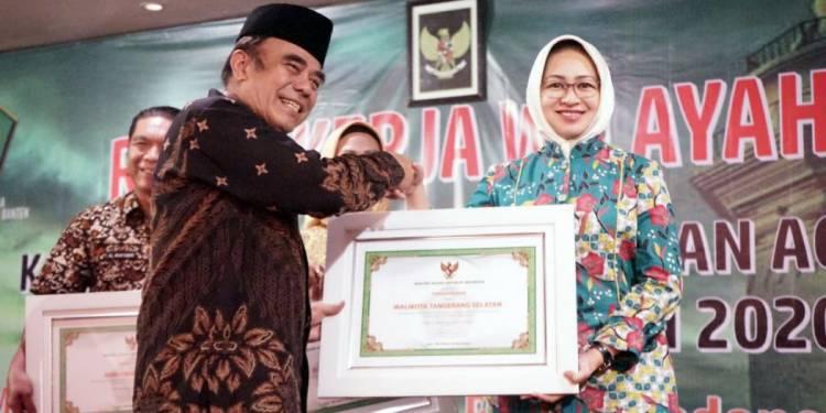 Peduli Madrasah dan Toleransi, Gubernur WH Hingga Airin Raih Penghargaan Kemenag RI