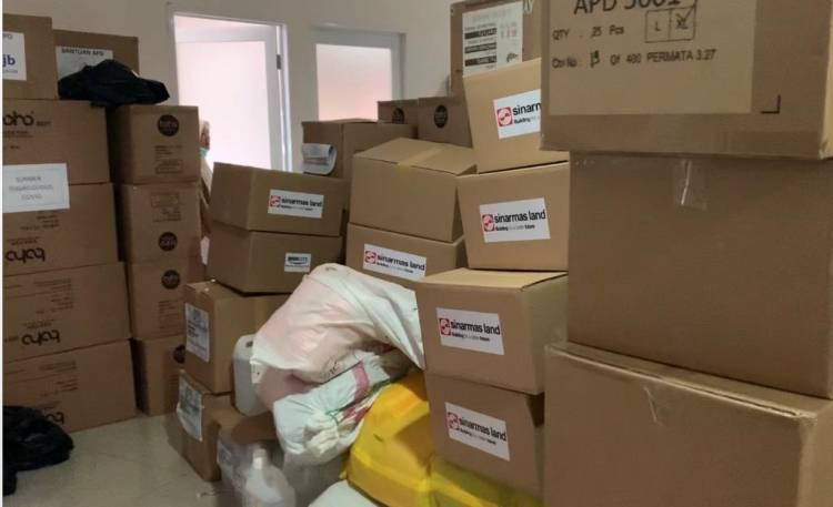 Sebagian Bantuan CSR Penanganan Covid-19 Ditampung Dinkes Tangsel