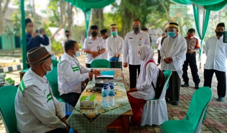 Patut Dicontoh! Rapid Test Santri di Pondok Pesantren Dibiayai Pemkab Tangerang