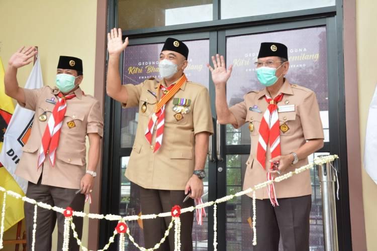 Kwarda Banten Apresiasi Pemerintah Kab. Tangerang Bangun GSG Kwarcab Pramuka