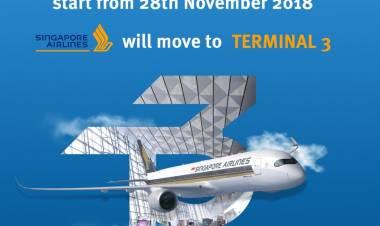 Catat.! Singapore Airlines Pindah Operasional ke Terminal 3