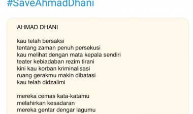 Ahmad Dhani Dibui, Kubu Oposisi Tulis Puisi