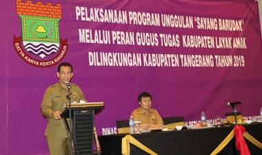DPPA Kab Tangerang Bersama Camat Deklarasikan Gerakan Sayang Barudak