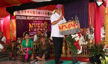 Hadiri Peringatan Nyepi, Sekda : Tetap Jaga Kerukunan Umat Beragama