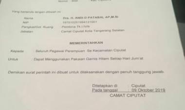 Beda Dengan Wakil Walikota, Soal Edaran Wajib Pakai Gamis Dibelakang Camat Ciputat Ada Siapa?