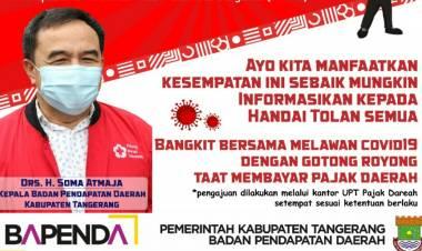 Kabar Baik! Dampak Covid,  Bapenda Kabupaten Tangerang dan PLN Bebaskan PPJ Bagi Pengguna Listrik Bersubsidi