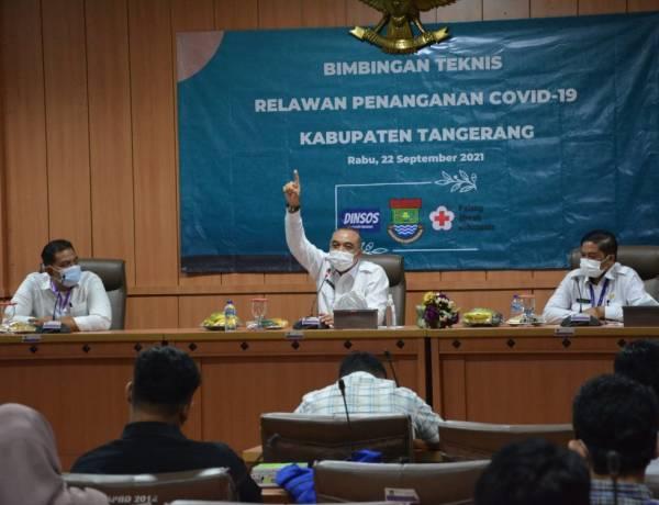 Bantu Percepat Vaksinasi, Bupati Tangerang Membuka Bintek Relawan Covid-19
