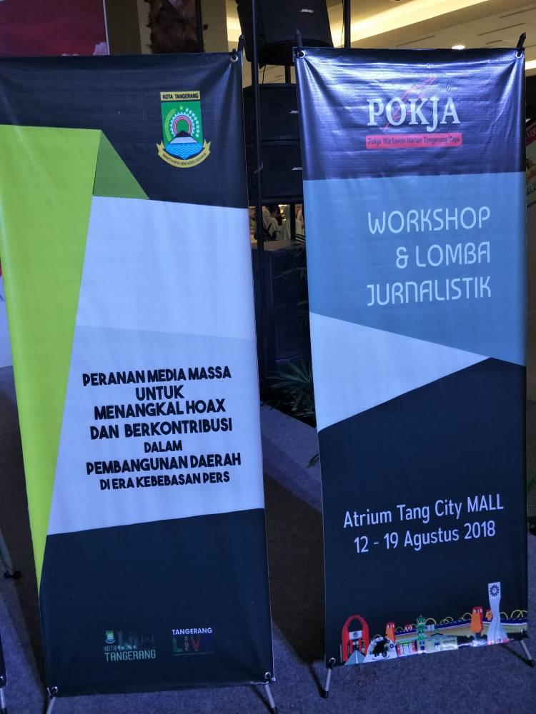 Jelang Pilpres, POKJA Wartawan Tangerang Gelar Workshop Jurnalistik Berita Hoax