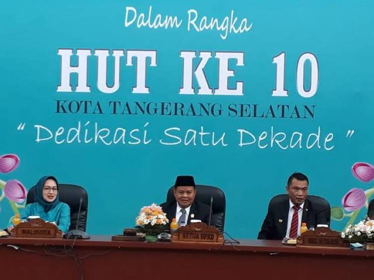 DPRD Gelar Paripurna HUT ke-10 Kota Tangsel