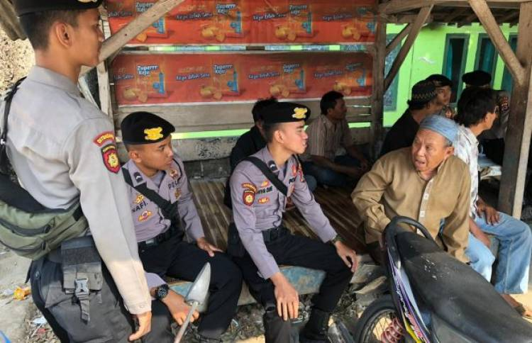 Cegah Paham Radikalisme, Ditsamapta Polda Banten Rutin Gelar Komunikasi Sosial dan Patroli