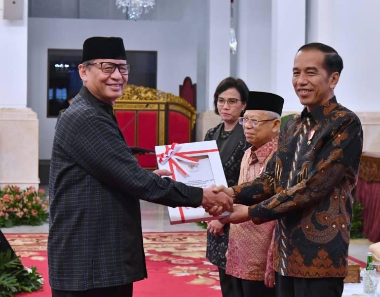 Gubernur WH Terima DIPA dan TKDD Banten TA 2020