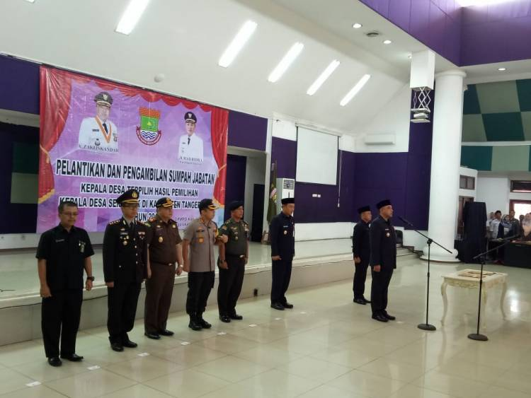 Lantik 153 Kades Hasil Pilkades Serentak, Zaki Pesan Jangan Korupsi Dana Desa