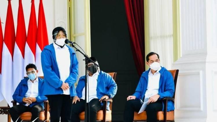 Sebelum Dilantik Potret Enam Menteri Baru Kenakan Jaket Biru, Ini Maknanya !