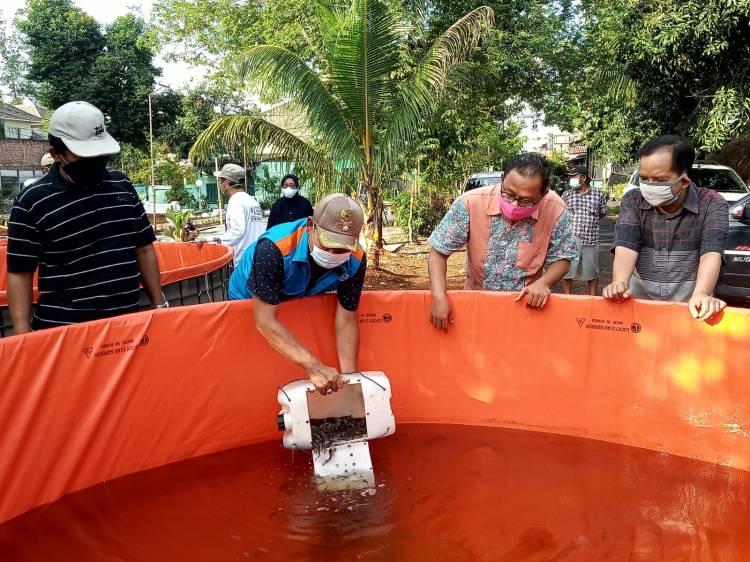 Kelompok Tani Amor Pakualam Serpong Terima Terima Bantuan Alat Hidroponik dari Indah Kiat Tangerang