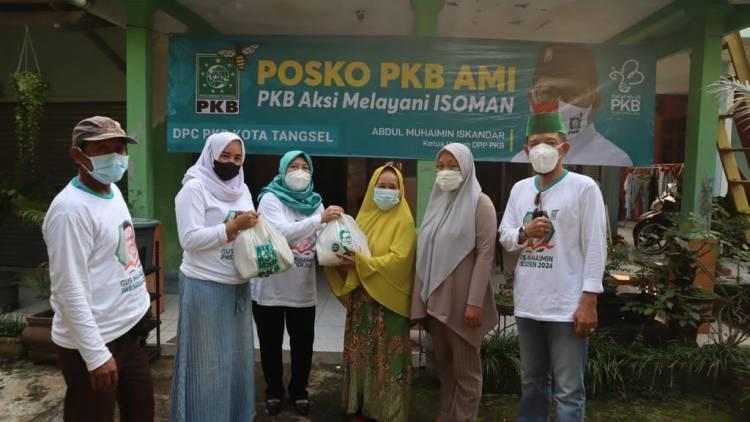 Gelar Aksi Melayani Isoman, PKB Tangsel Sebar 1500 Paket Sembako