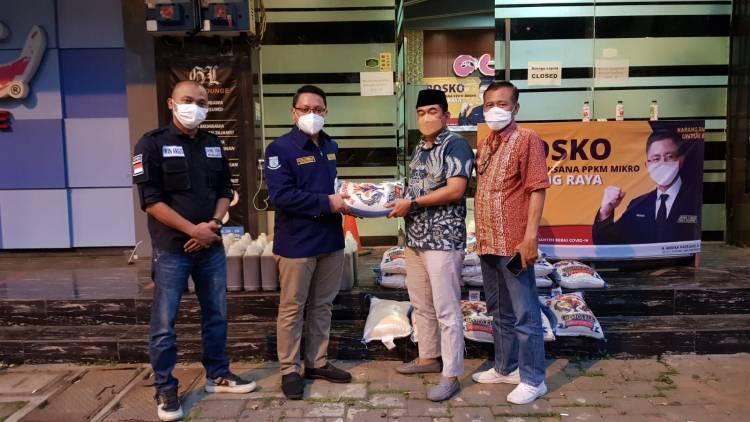 MPKT Banten Berikan Bantuan Beras 1 Ton Untuk Warga Terpapar Covid-19 di Tangerang Selatan