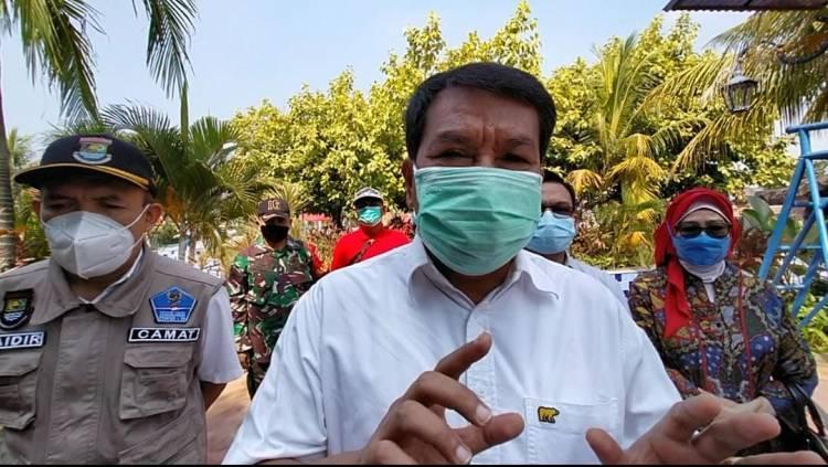 Warga Pasarkemis Siap-Siap Vaksin! Sekda Kabupaten Tangerang Rubah Waterboom Jadi Vaksin Center