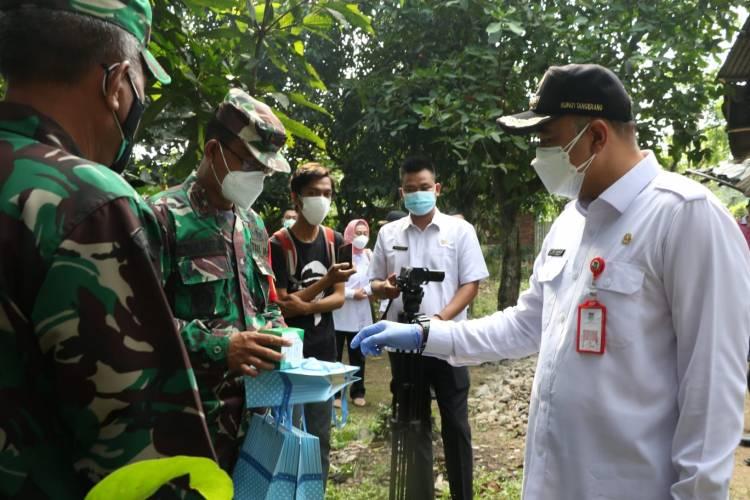 Bupati Tangerang Terima Bantuan Sembako dan 30 Ton Beras