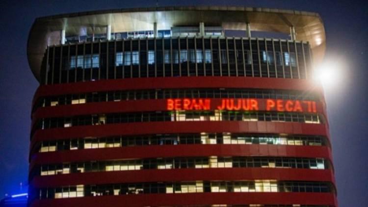 Heboh, Gedung KPK Ditembak Laser Bertuliskan 'Berani Jujur Pecat'