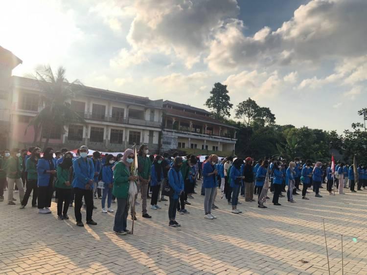 10.000 Sembako Siap Didistribusikan, Mahsiswa Gelar Apel Persiapan