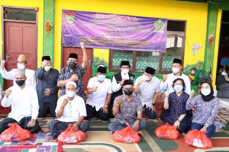 Lembaga Koordinasi Kesejahteraan Sosial (LKKS) Terima Bantuan dari Pemkab Tangerang